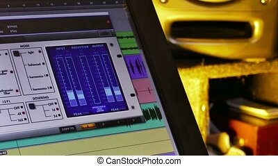 music studio monitor sound wave graph - music studio monitor...