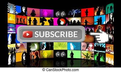 Music subscription on social media