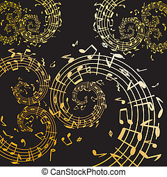 Music swirls