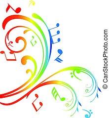 music swirls - vector musical swirls