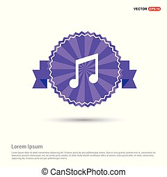 Music Symbol icon - Purple Ribbon banner