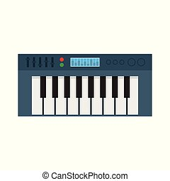 Music Synthesizer. Electronic Piano. Vector