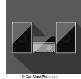 Music system. Vector illustration