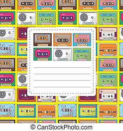 music tape card