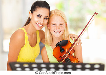 music teacher with young student