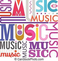 Music text design