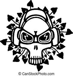 Music theme skull