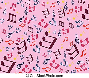 Music Themed Pattern - Vector Design of Pattern for...