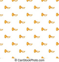 Music tube pattern, cartoon style