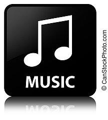 Music (tune icon) black square button