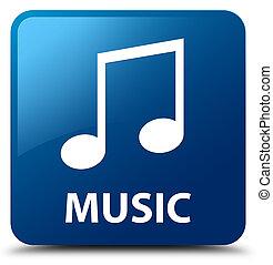 Music (tune icon) blue square button