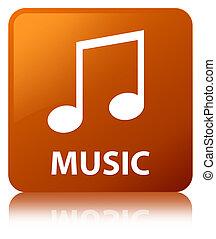 Music (tune icon) brown square button