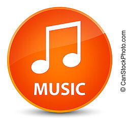 Music (tune icon) elegant orange round button