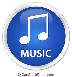 Music (tune icon) premium blue round button
