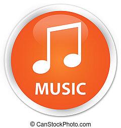 Music (tune icon) premium orange round button