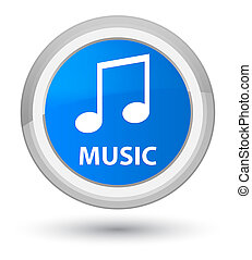 Music (tune icon) prime cyan blue round button