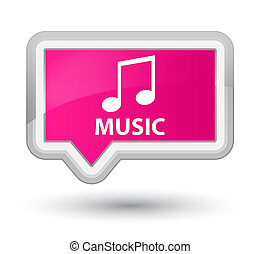 Music (tune icon) prime pink banner button