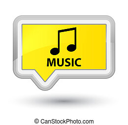 Music (tune icon) prime yellow banner button