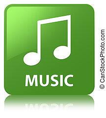 Music (tune icon) soft green square button