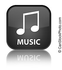 Music (tune icon) special black square button