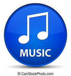Music (tune icon) special blue round button