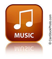 Music (tune icon) special brown square button