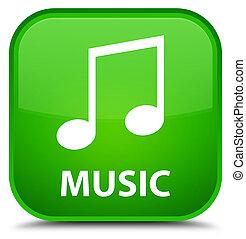 Music (tune icon) special green square button
