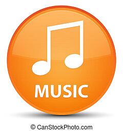 Music (tune icon) special orange round button