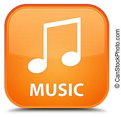 Music (tune icon) special orange square button
