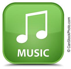 Music (tune icon) special soft green square button
