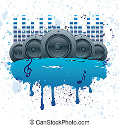music vector background - vector illustration of musical ...