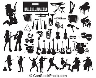 Music vector - Musicians and instruments