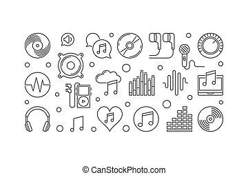 icon music party dj microphone audio equipment headphones