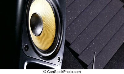 music vibration speaker sound recording studio - music...