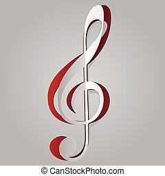 Music violin key