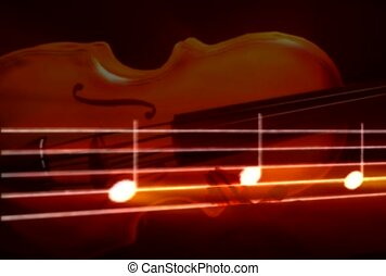 music, violin, music note