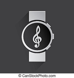 music watch web icon.
