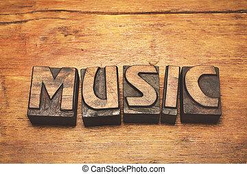 music wood vintage
