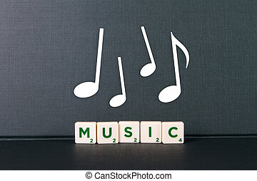 Music Word and Notes
