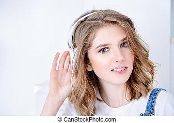 musica, adolescente, ascolto