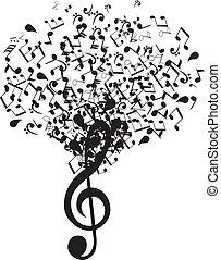 musica, albero