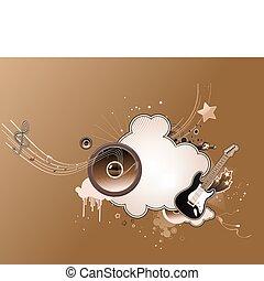 musica, astratto, cornice