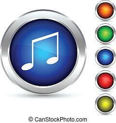 musica, button.