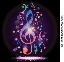 musica, colorito, fondo