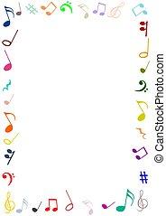 musica, cornice