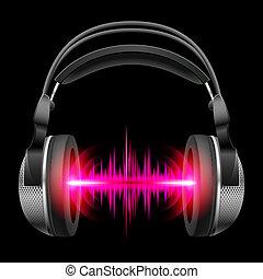 musica, cuffie, gioco