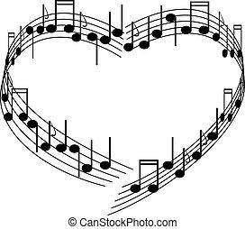 musica, di, love.