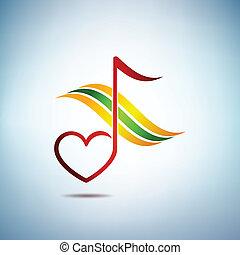 musica, e, armonia