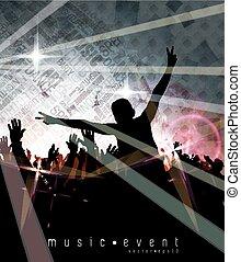 musica, evento, fondo