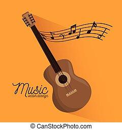 musica, festival, chitarra, strumento, manifesto